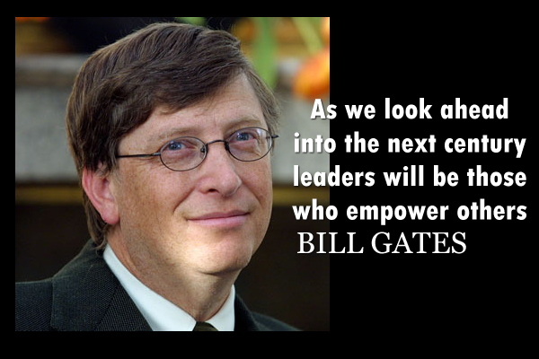 As we look ahead into the next century leaders will be those who empower others