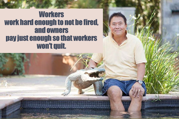 Workers work hard enough to not be fired, and owners pay just enough so that workers won't quit.