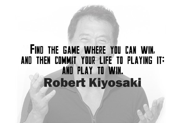 Find the game where you can win, and then commit your life to playing it; and play to win.