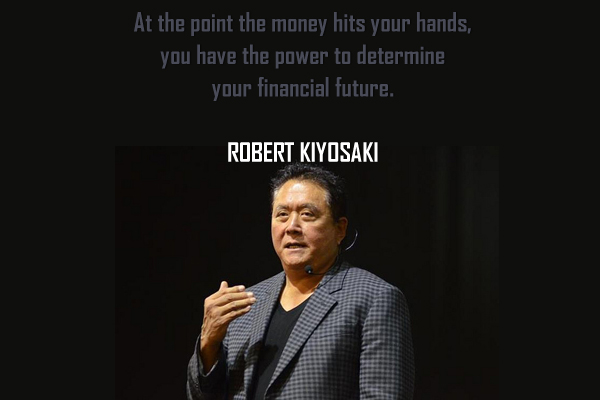 At the point the money hits your hands, you have the power to determine your financial future.