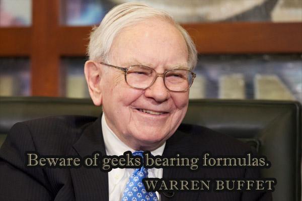 Beware of geeks bearing formulas.