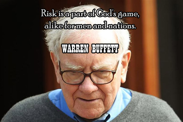 Risk is a part of God's games, alike for men and nations.