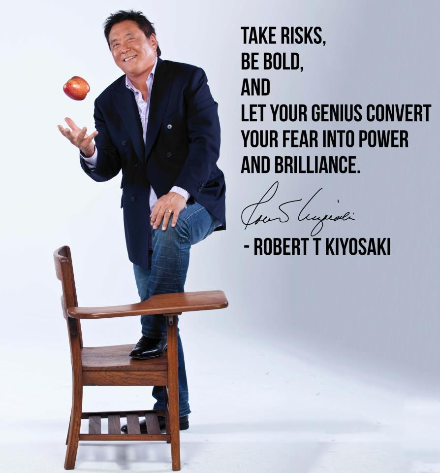 Take a risks, be bold and let your genius convert your fear into power and brilliance.