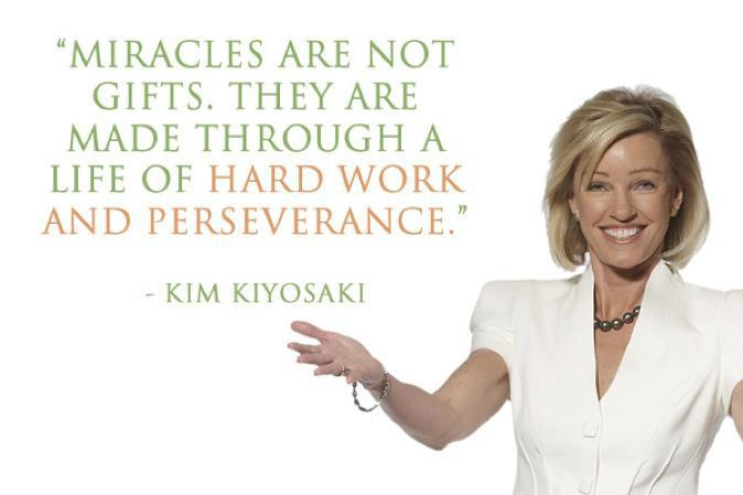 """Miracles are not gifts. They are made through a life of hard work and perseverance."""