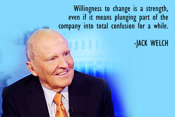 Willingness to change is a strength, even if means plunging part of the company into total confusion for a while.