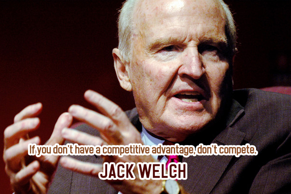 If you don't have a competitive advantage, dont't compete.