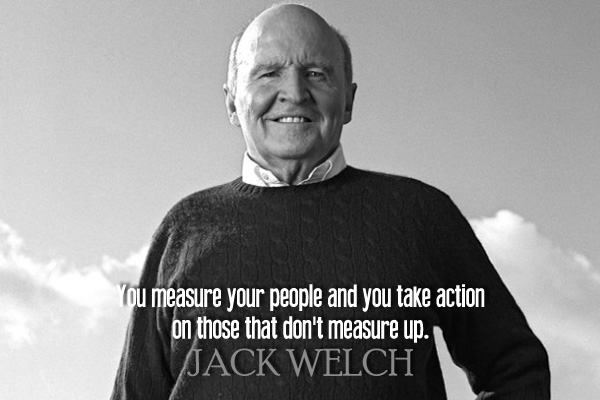 You measure your people and you take action on those that don't measure up.