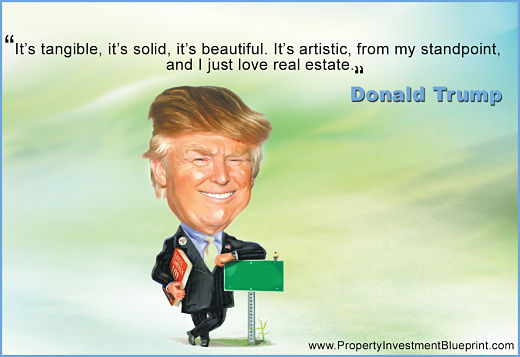 """It's tangible, it's solid, it's beautful. It's artisitic, from my standpoint, and I just love real estate"""""