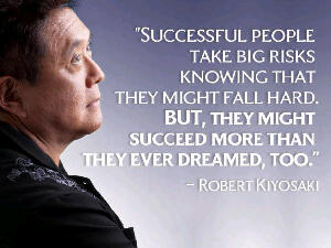 """Successfull people take a big risks knowing that they might fall hard. But, they might succeed more than they ever dreamed, too."""