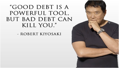 """Good debt is a powerful tool. But bad debt can kill you."""