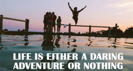 Life is either a daring adventure or nothing by Helen Keller