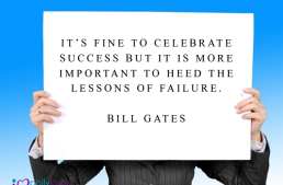 It's fine to celebrate success but it's more important to heed the lessons of failure
