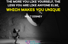 The more you like yourself, the less you are like anyone else, which makes you unique