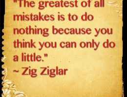 """The Greatest Of All Mistakes IS To Do Nothing Because You Think You Can Only Do Little"""